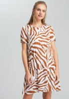 Tunic dress in the tiger's pattern