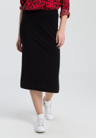 Knitted skirt with side slit