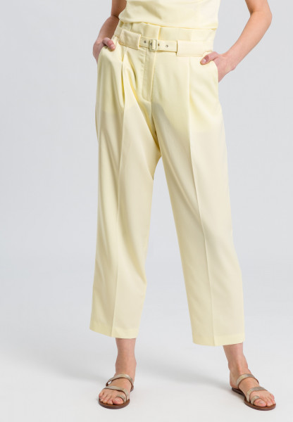 Fabric trousers with a belt