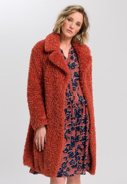 Coat fur-look