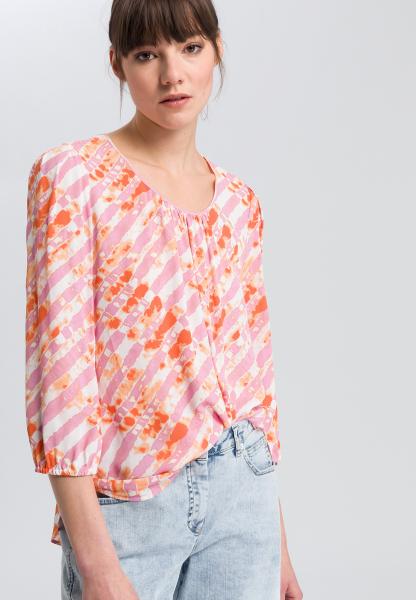 Blouse with batik-print
