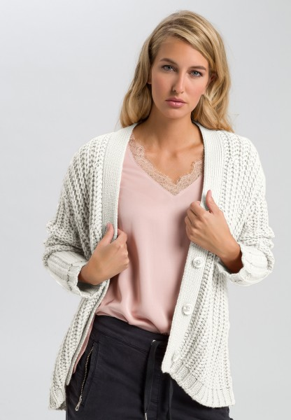 Knitted jacket chunky knit