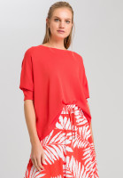 Poncho sweater with fine structure