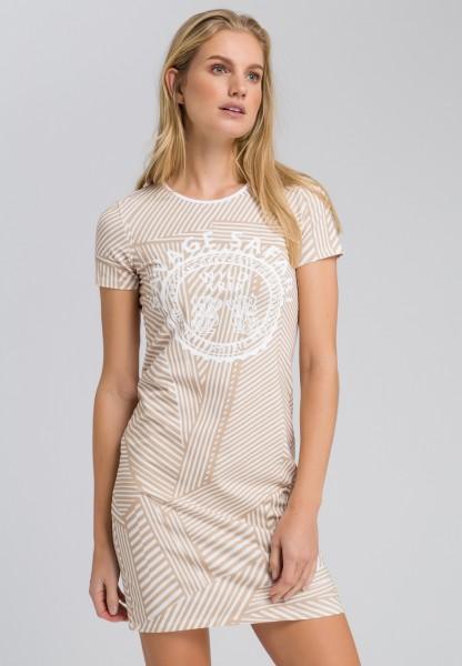 Shirt dress in a striped design