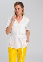 Shirt blouse in fine satin