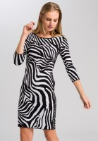 Knitted dress with zebra pattern