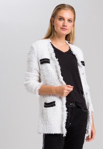Cardigan with contrasting screens