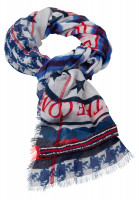 Scarf in maritime pattern mix