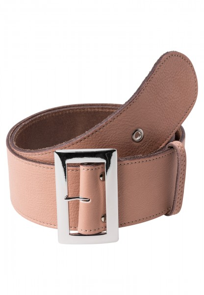 Waist belt with silver buckle
