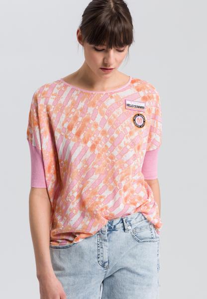 Boxy jumper with Batik-print