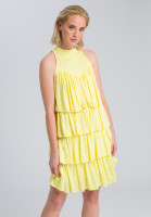Flounce dress sleeveless