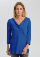 Blouse with waterfall cutout
