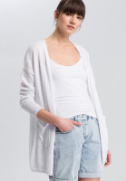 Cardigan with external pockets