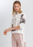 Shirt blouse with photo print