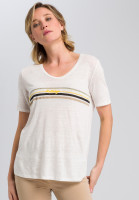 T-shirt with striped motif