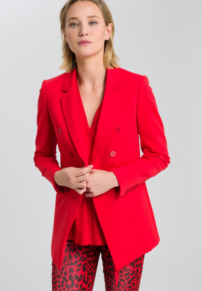 Jersey blazers in double-breasted look