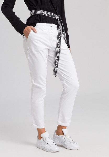 Chinese pants from satin stretch