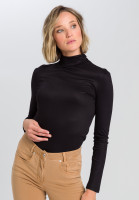 Shirt With draped roll collar
