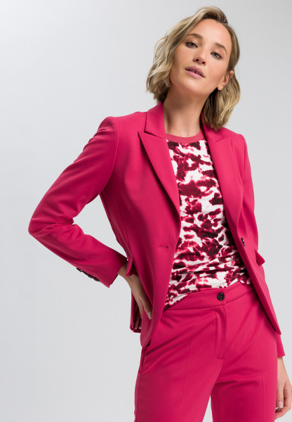 One-button blazer from jersey material