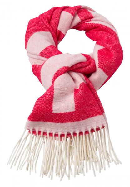 Rectangular scarf With logo inlays