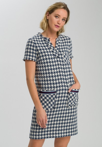 Dress with dog-tooth check