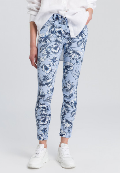Trouser with floral print