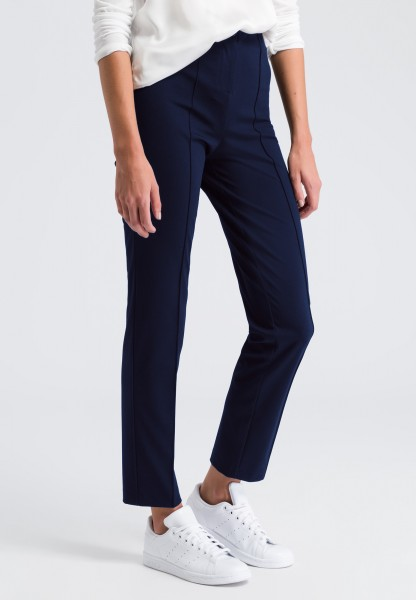 Business trousers with an elasticated waistband
