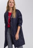 Outdoor coat in oversize look with lapels