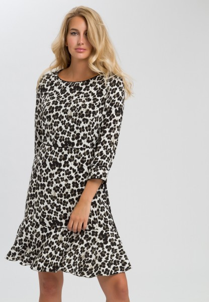 Dress in animal print