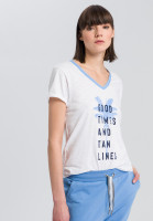 T-shirt with palm tree-print