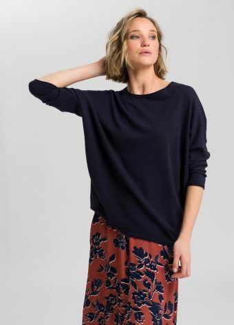 Knitted sweater in oversize look