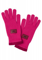 Finger gloves in fashionable pink