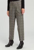 Pleated trousers From Glencheck Jersey