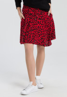 Skirt with leopard pattern