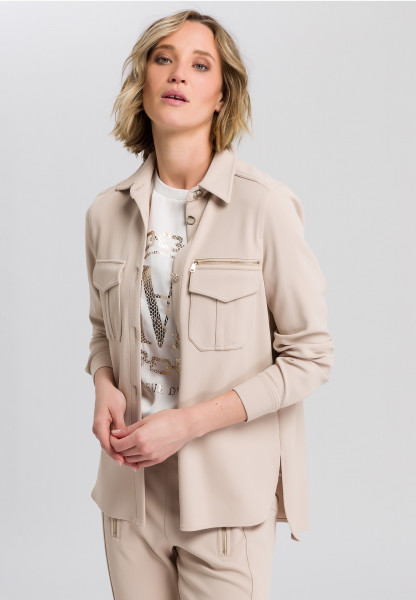 Shirt Jacket in twill optic