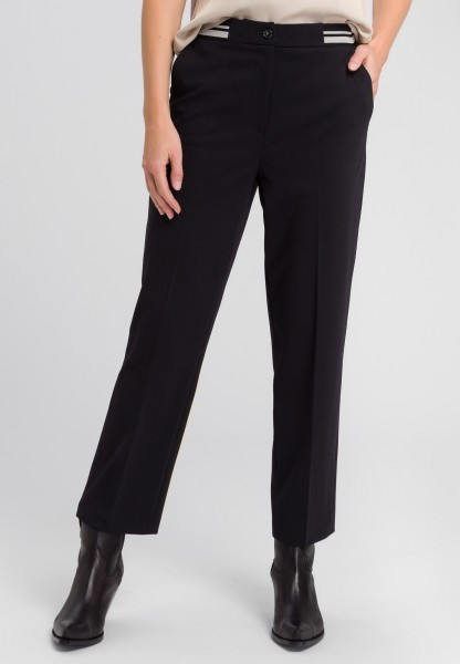 Trousers with striped cuffs