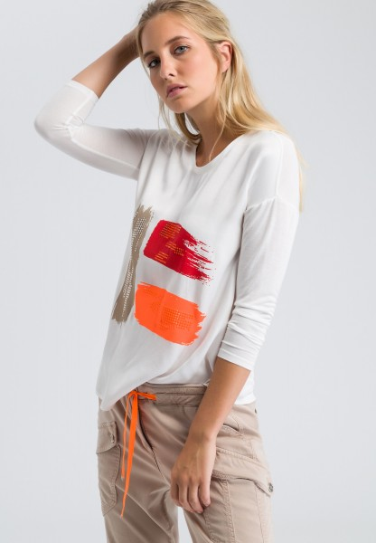 Long top with a print