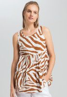 Strap top in the tiger's pattern