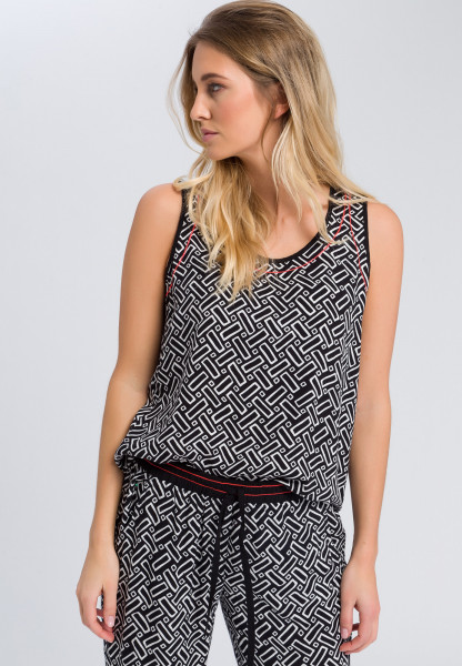 Top with allover print