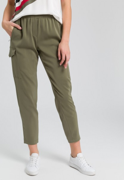 Baggy trousers elastic satin