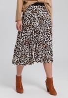 Pleated skirt with elastic waistband