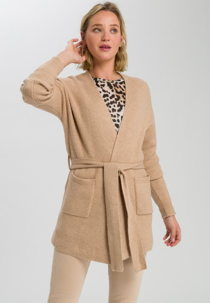 Knitted jacket in cardigan style