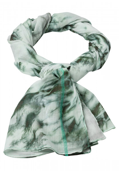 Rectangular scarf in tie-dye print