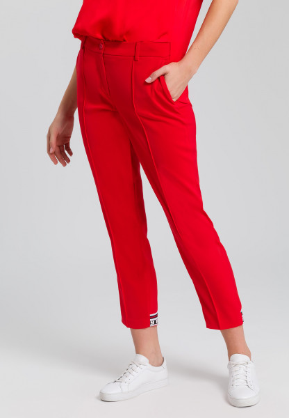 Pants from elastic satin