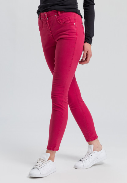 5-pocket trousers in high-waist-optics