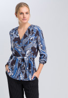 Wrap blouse with Paisley print
