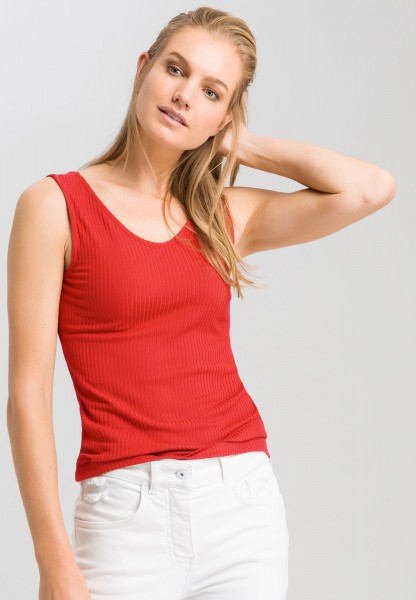 Tank top from jersey rib
