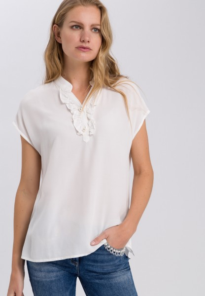 Blouse top with ruffle detail