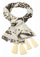 Rectangular Scarf with tropical print