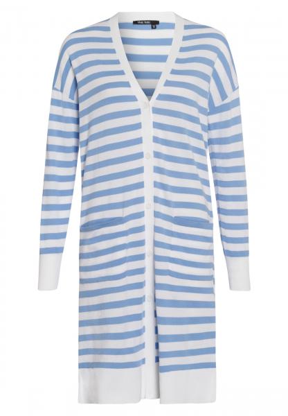Long cardigan in striped look